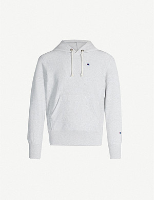 CHAMPION Logo-embroidered cotton hoody