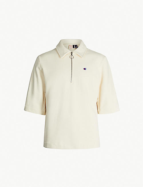 CHAMPION Champion x Cloth Surgeon branded cotton-blend polo jumper