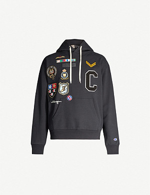 CHAMPION Champion x Clothsurgeon logo-patch stretch-cotton hoody
