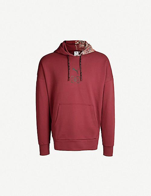 1069e83f9eb7 PUMA PUMA x Les Benjamins logo-print cotton-jersey hoody