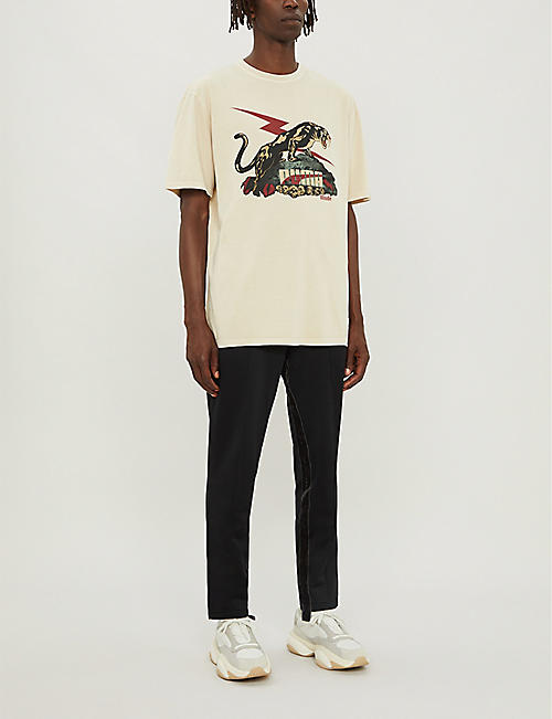 PUMA Puma x Rhude graphic-print regular-fit cotton-jersey T-shirt