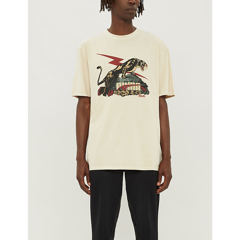 Puma T-shirts X RHUDE GRAPHIC-PRINT REGULAR-FIT COTTON-JERSEY T-SHIRT