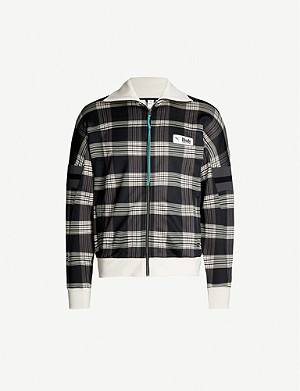PUMA Puma x Rhude high-neck checked shell tracksuit jacket