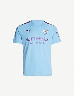 PUMA Manchester City stretch-jersey home football shirt