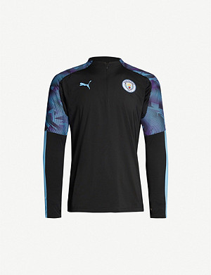 PUMA Manchester City high-neck stretch-jersey football top