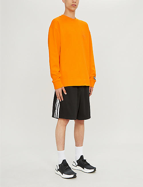 ADIDAS STATEMENT Sunnyhurst embroidered-logo cotton-jersey sweatshirt