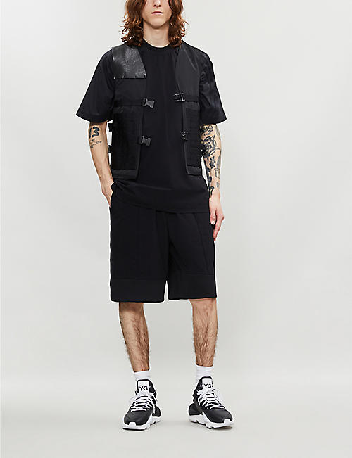 Y3 Relaxed-fit shell shorts