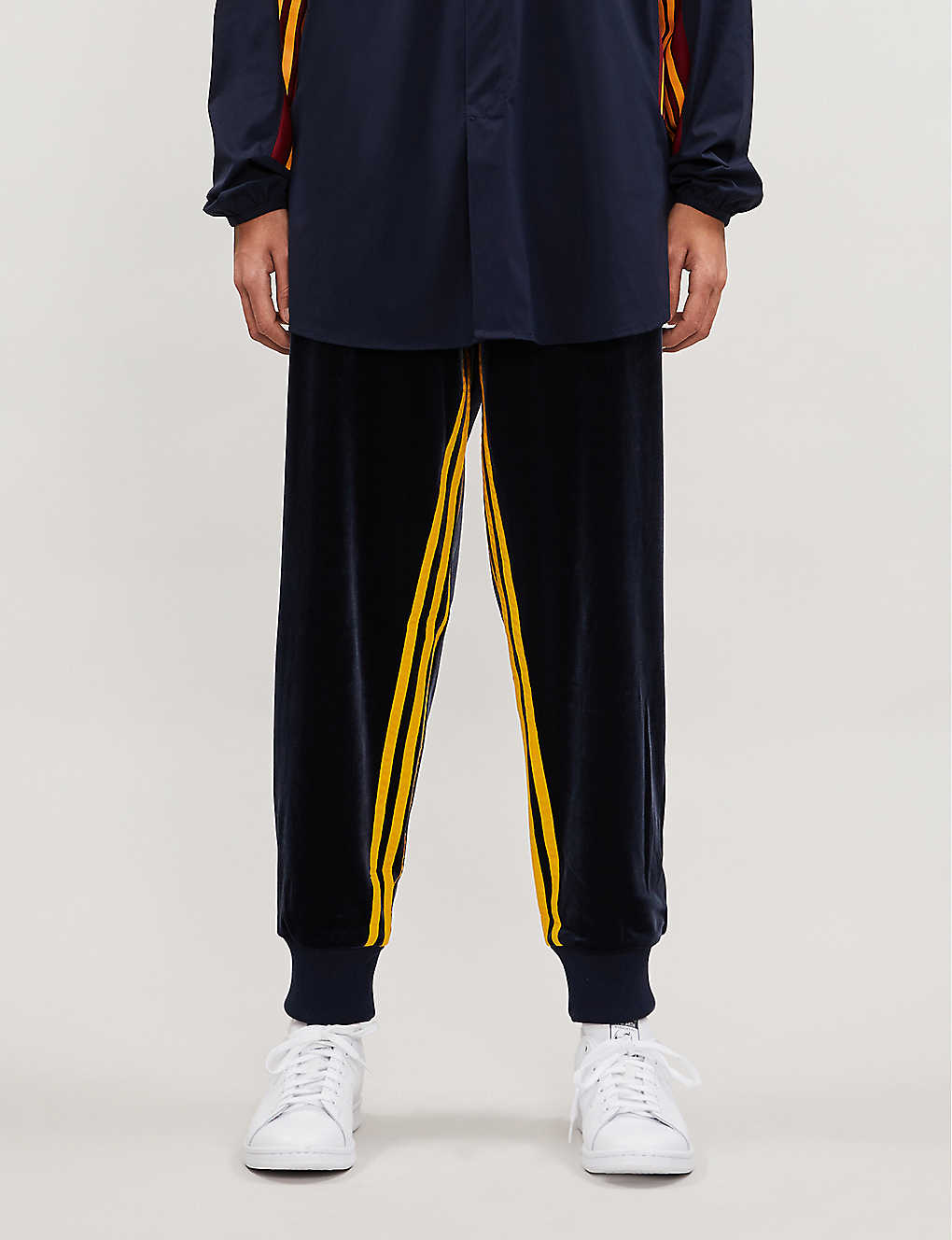 ADIDAS STATEMENT: adidas x BED j.w. FORD colour-blocked jersey jogging bottoms