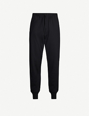 Y3 Drawstring-waist cotton-jersey jogging bottoms
