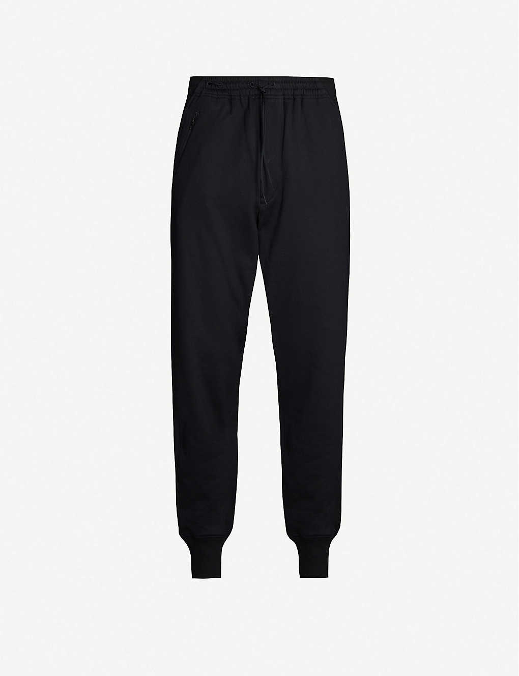 Y3: Drawstring-waist cotton-jersey jogging bottoms