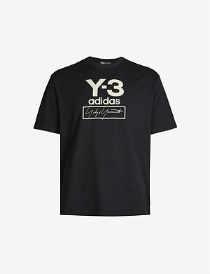 Y3 Logo-print cotton-jersey T-shirt