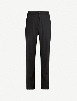 Y3 Slim-fit straight wool-blend trousers