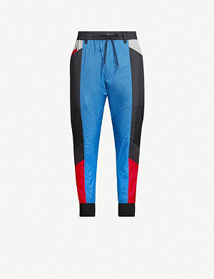 Y3 Colour-blocked shell tapered trousers