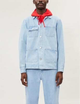 Patch Pocket Denim Chore Jacket by Mki Miyuki Zoku