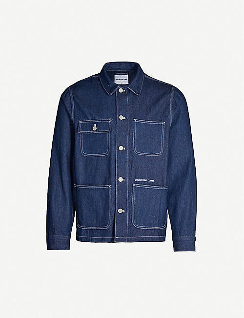 MKI MIYUKI-ZOKU Patch-pocket denim chore jacket