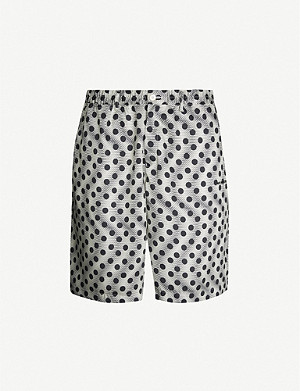 MKI MIYUKI-ZOKU Vacation polka-dot relaxed-fit crepe shorts