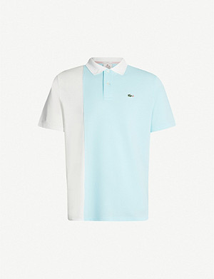 LACOSTE Lacoste x GOLF le FLEUR colour-blocked cotton-piqué polo shirt