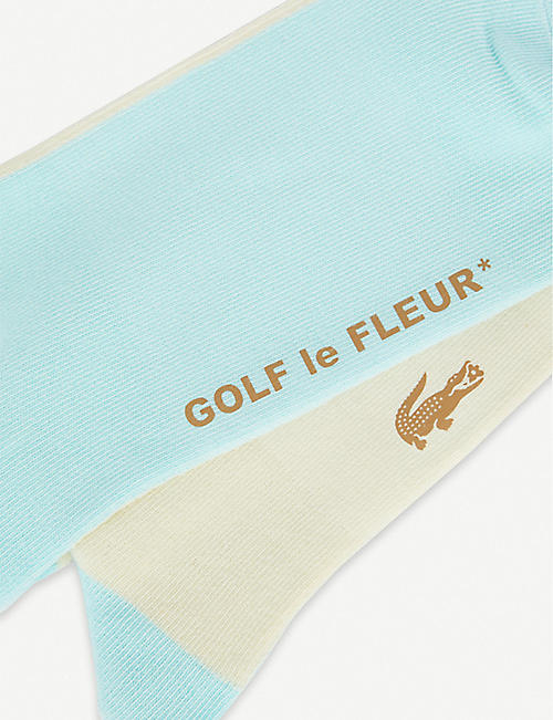LACOSTE Lacoste x GOLF le FLEUR cotton-blend socks