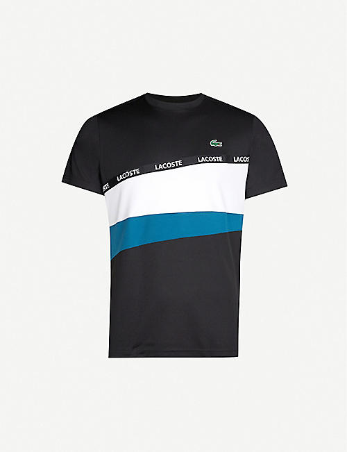 LACOSTE Logo-print stretch-jersey T-shirt