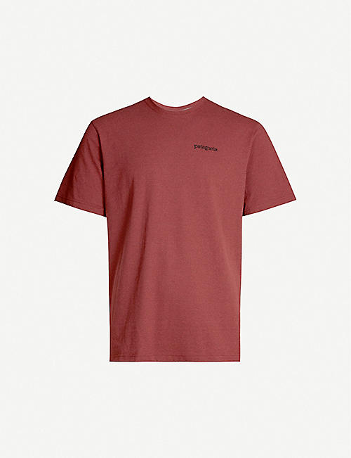 PATAGONIA Fitzroy Horizon recycled cotton-blend jersey T-shirt