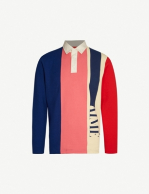AIME LEON DORE Logo-print cotton-jersey rugby shirt