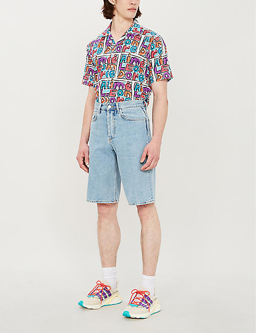 AIME LEON DORE Logo-print regular-fit cotton shirt