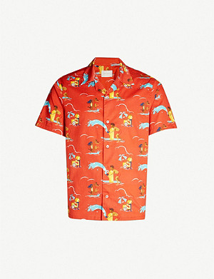 AIME LEON DORE Graphic-print regular-fit cotton shirt