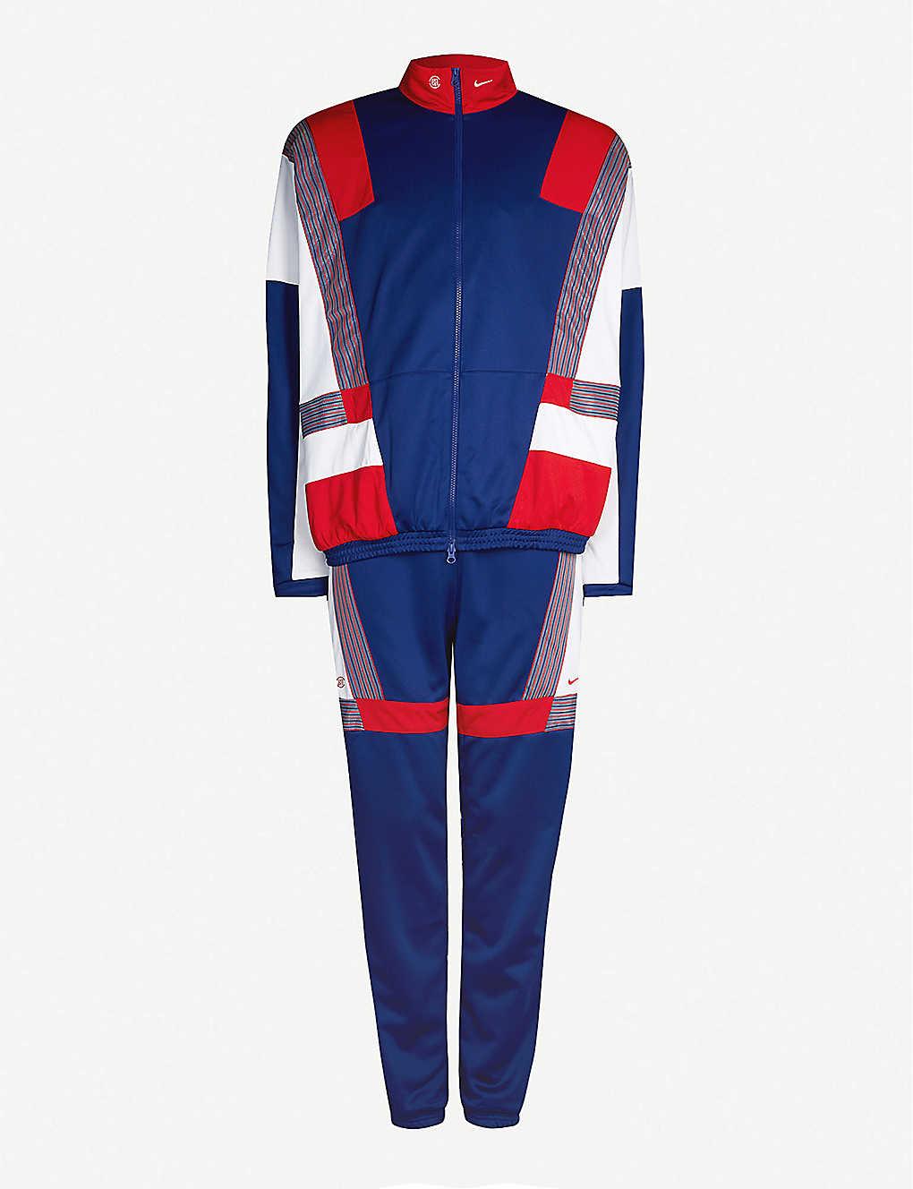 7c38b48774b Nike x CLOT stretch-jersey tracksuit - Blueredwhite ...
