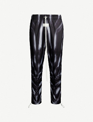 NIKE Nike x Fear of God loose-fit high-rise printed shell trousers