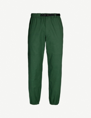 NIKE ACG logo-embroidered wide-leg cotton trousers