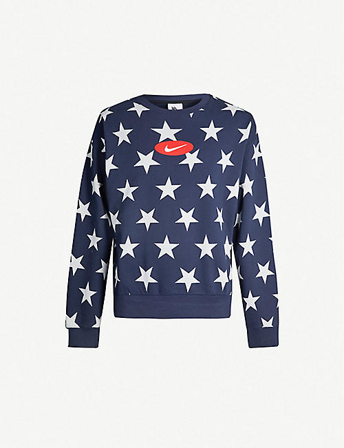 a338aefd8c1 NIKE NRG star-print cotton-blend sweatshirt