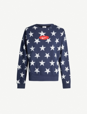 NIKE NRG star-print cotton-blend sweatshirt