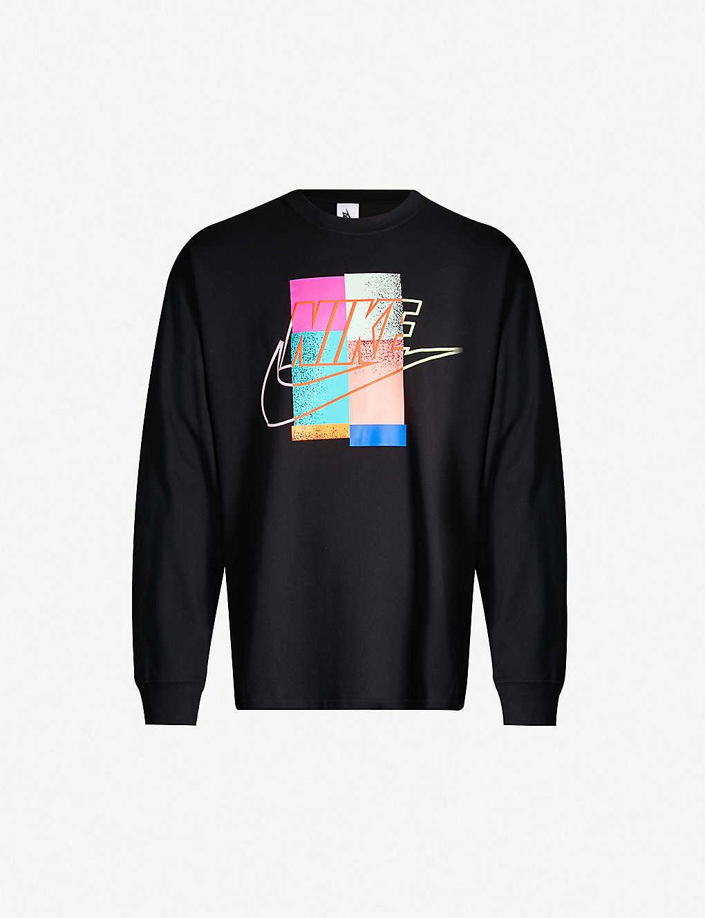 Cotton Nike X Atmos Print Jersey Graphic Sweatshirt wN8v0mn