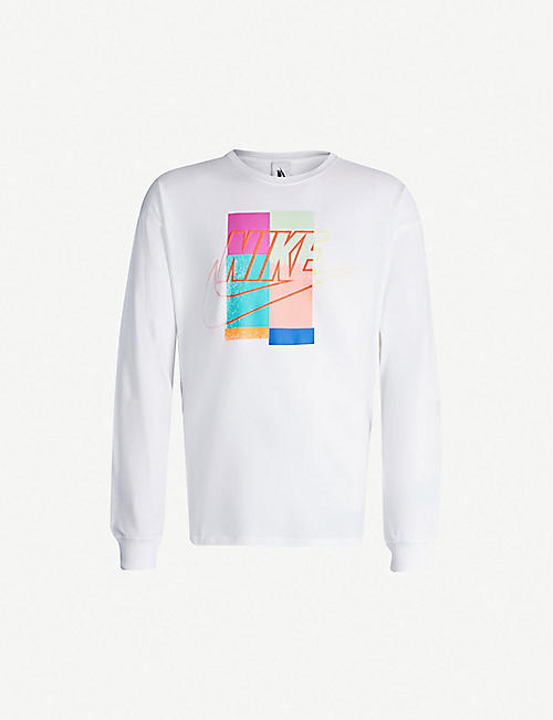 NIKE Nike x Atmos graphic-print cotton-jersey sweatshirt