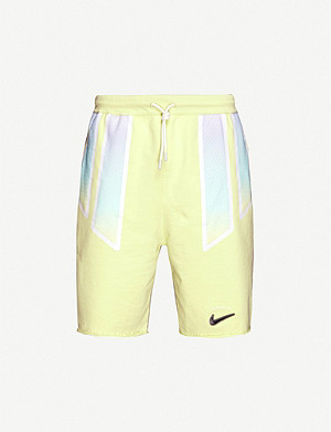 NIKE Nike x Pigalle relaxed-fit cotton stretch-jersey shorts
