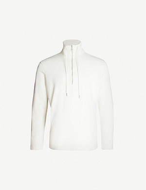 PREVU Core Luxe funnel neck cotton-jersey sweatshirt
