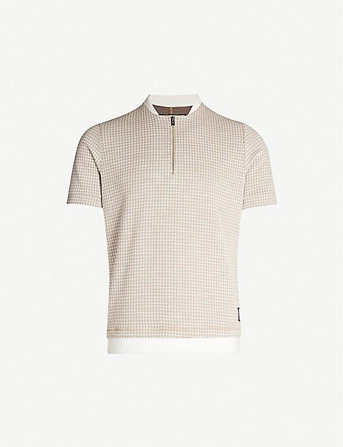 cd0beda99 PREVU Medina dogtooth woven T-shirt