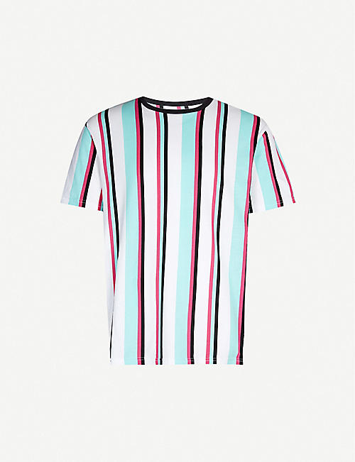 PACSUN Striped cotton T-shirt