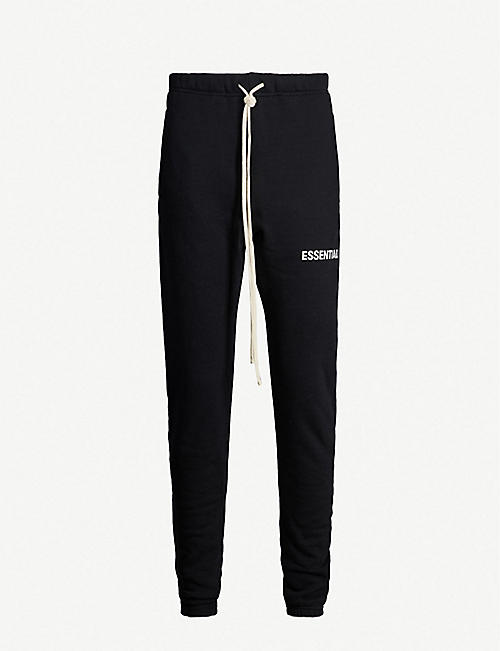 FOG X ESSENTIALS ESSENTIALS logo-print cotton-blend jogging bottoms