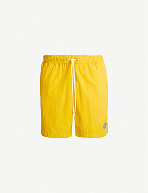 PACSUN Solid relaxed-fit mid-rise swim shorts