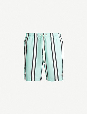 PACSUN Carnie striped relaxed-fit swim shorts