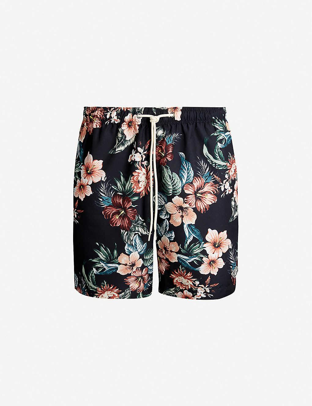 6ad77f9a9d PACSUN - Maui tropical-print relaxed-fit swim shorts   Selfridges.com
