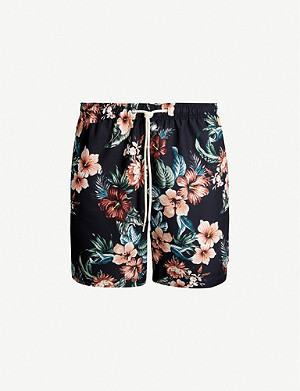 PACSUN Maui tropical-print relaxed-fit swim shorts
