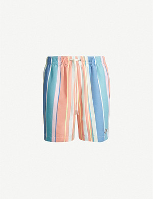 PACSUN Breaker striped relaxed-fit swim shorts