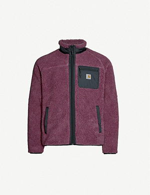 CARHARTT WIP Prentis funnel-neck logo-embroidered teddy jacket