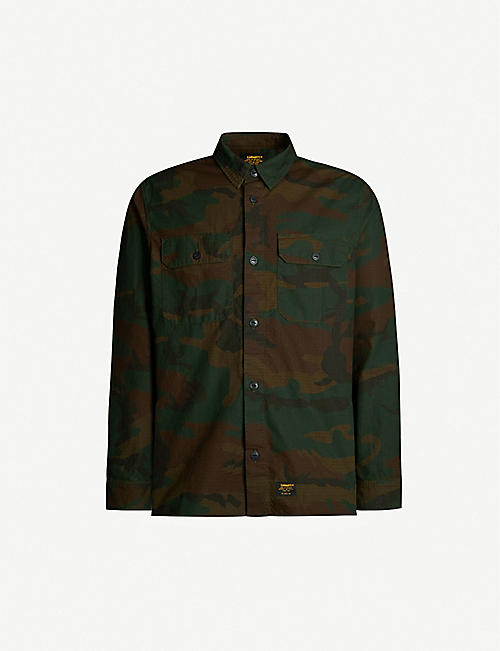CARHARTT WIP Mission camo-print regular-fit cotton shirt
