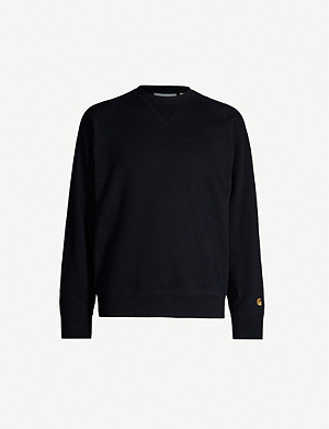 CARHARTT WIP Chase logo-embroidered cotton-jersey sweatshirt