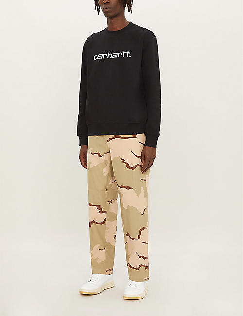 CARHARTT WIP Logo-embroidered cotton-blend sweatshirt
