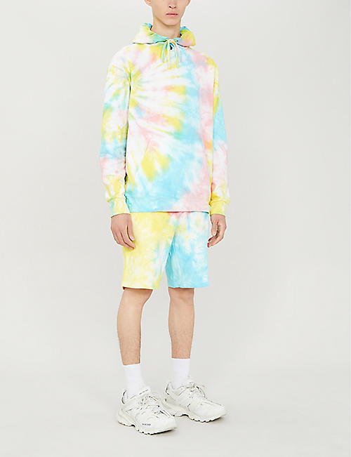 STAIN SHADE Tie-dye cotton-blend hoody