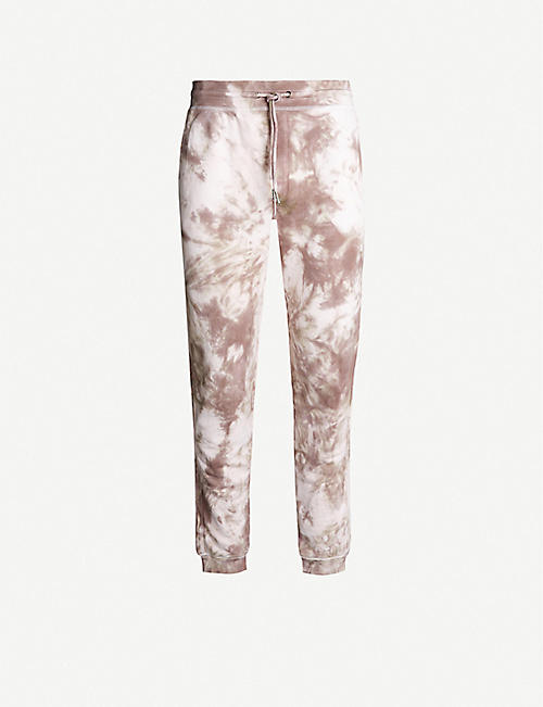 STAIN SHADE Tie-dye cotton-jersey jogging bottoms